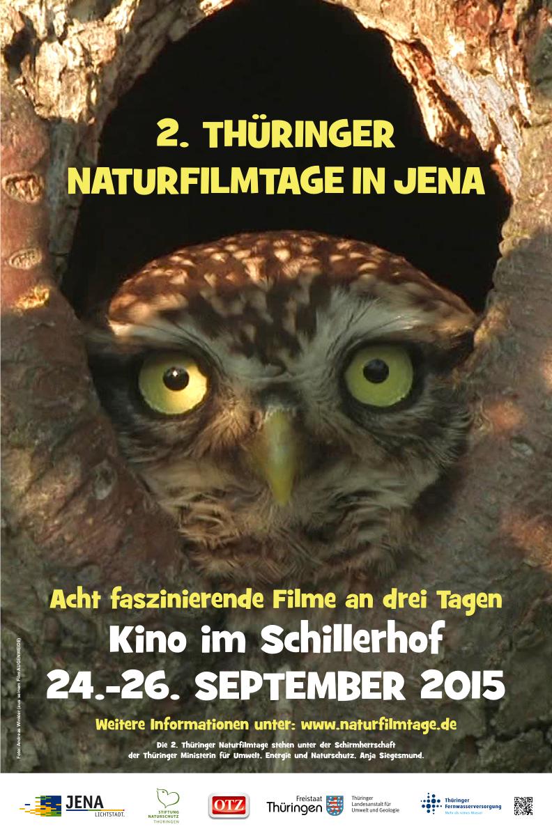 Plakat der 2. Thüringer Naturfilmtage
